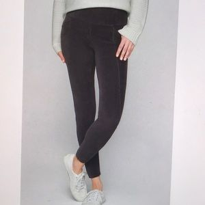 Athleta High Rise Cozy Cord Legging Charcoal Black